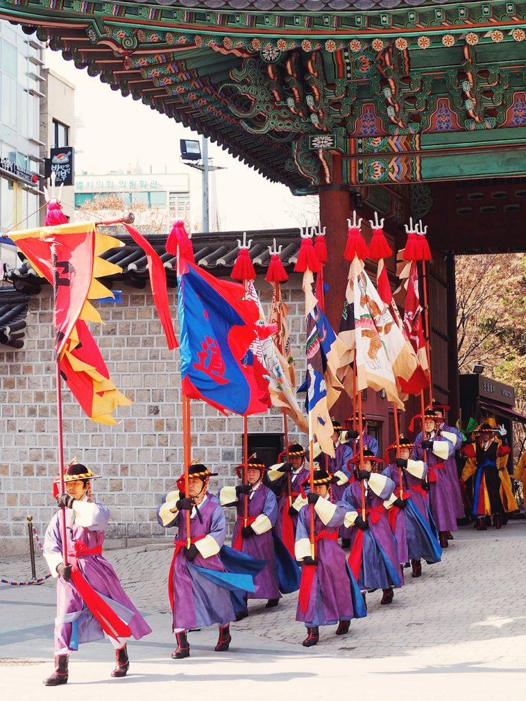 Changing of the guard at Deoksugung Palace Seoul