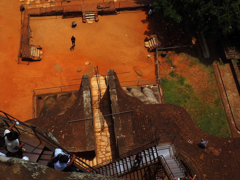 The awe-inspiring Lion's Staircase at Sigiriya