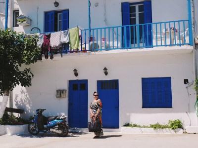 Wearing Camilla Kaftan in Greece