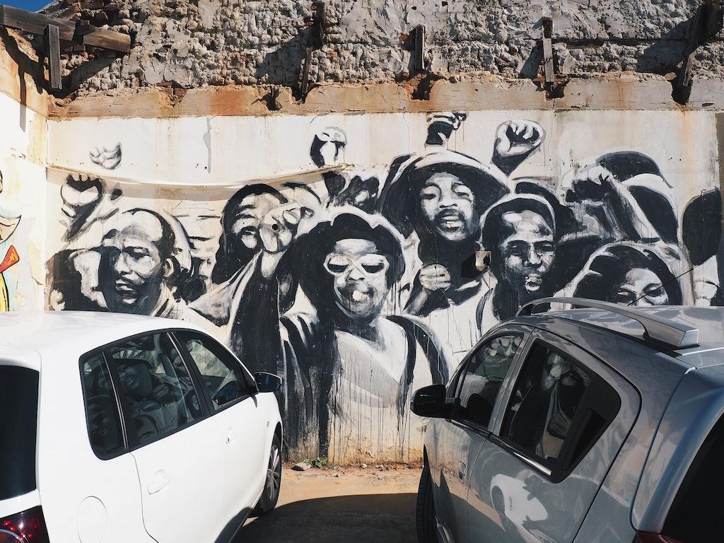 Street art in Woodstock Cape Town by Freddy Sam