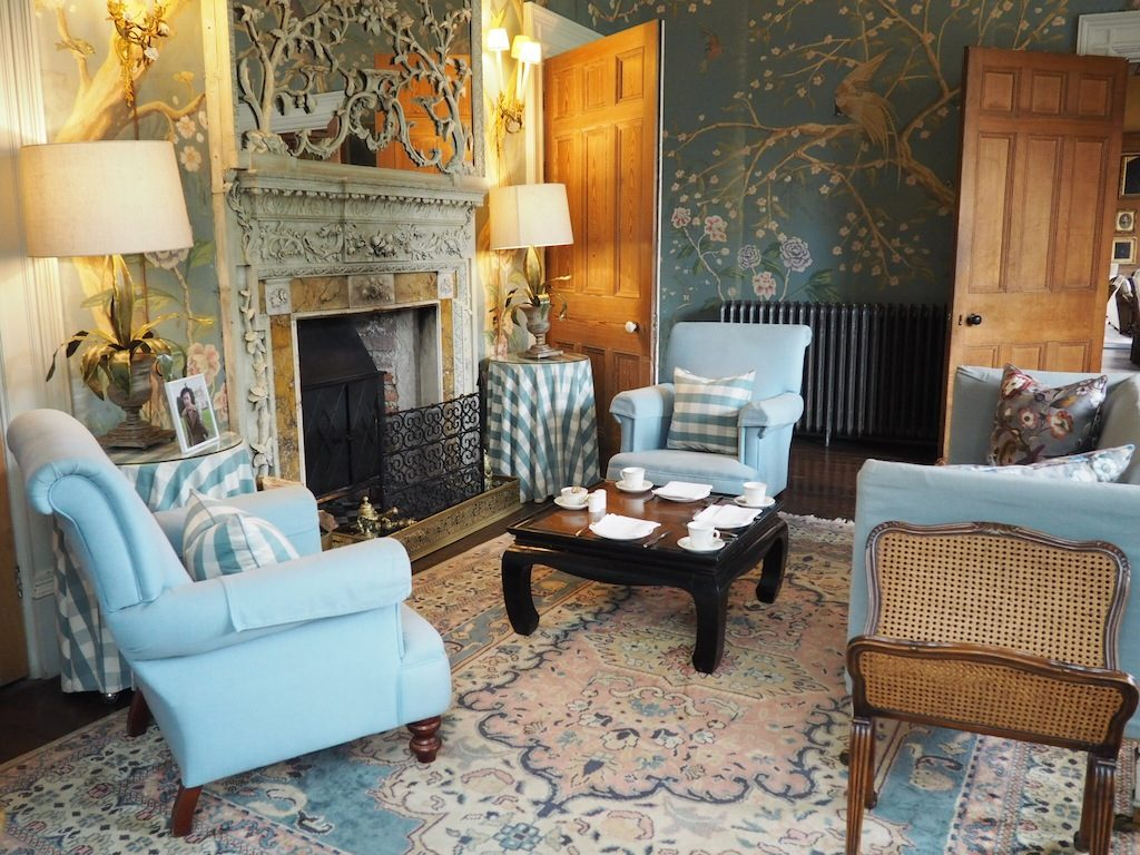 One of the gorgeous heritage drawing rooms at Castle Leslie