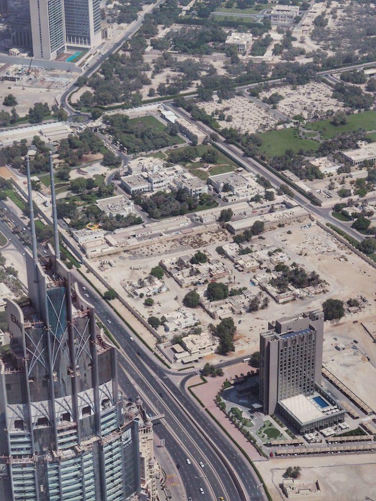 Spotting Rove Downtown Dubai from the top of the Burj Khalifa