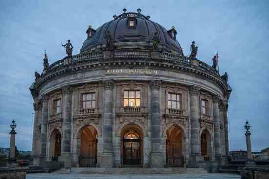 The architectural beauty of the Bode Museum in Berlin.