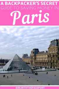 Your ultimate backpacking Paris guide for anyone who wants to travel to Paris on a budget. Filled with secret Paris travel tips and tricks that will help you have fun and save money while enjoying all of the amazing things to do in Paris, like the Eiffel Tower, the Arc de Triomphe, Jardin de Tullieries, and more. #Paristravel #Parisbudgettravel #Paristips #savemoney #budgetParis