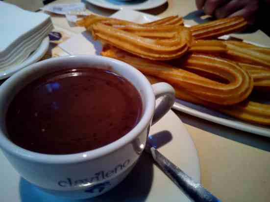 Whatever you do, make sure you have some churros and chocolate while visiting Madrid.