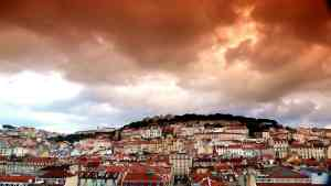 A beautiful view of Lisbon from Castelo de São Jorge.
