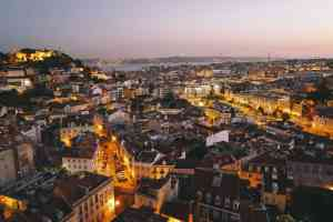 A gorgeous aerial view of Lisbon, Portugal before we get into all my Lisbon travel tips.
