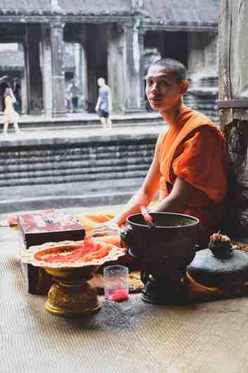 A Buddhist monk in Siem Reap.