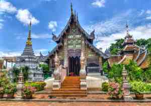 While in Chiang Mai, you can explore one of the many beautiful temples there.