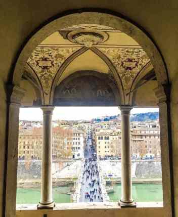 the Castello di st Angelo in Rome Italy.