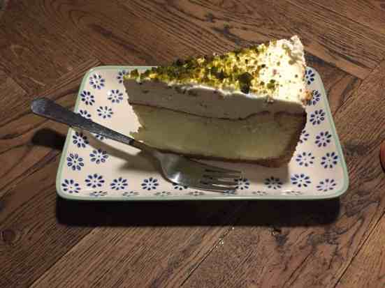 My stomach skips a beat at the thought of Bertels Salon pistachio cheesecake.