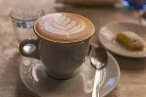 Make sure to stand while you're enjoying your Italian cappuccino.
