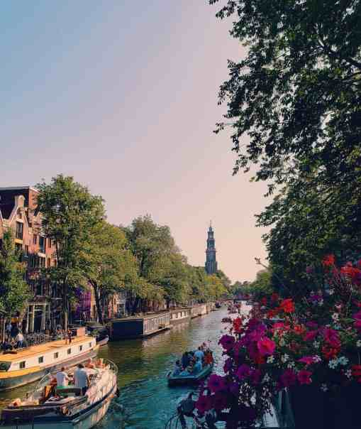 With Amsterdam canal views like this, I'm surprised I got on the plane back home.