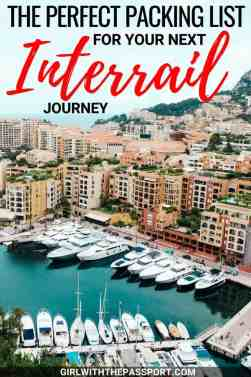 Creating an interrail packing list for vacation can be a bit difficult. Between choosing the perfect travel outfits and choosing the best travel gear, it can be difficult not to overpack. But this expert, packing list for travel will give you a ton of essential travel tips to help you pack like a pro. #interrail #packing #list #travel #outfits