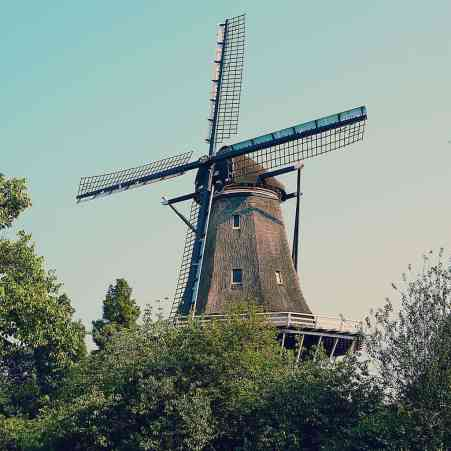 Random picture of an Amsterdam windmill because stupidly, I forgot to take a picture of pancakes.