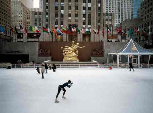 Trust me, skating in Rockefeller Center is never as romantic as it seems.