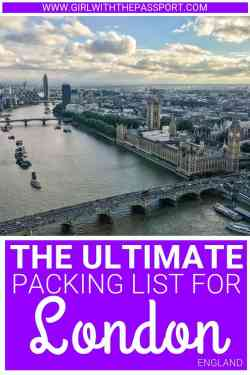 Not sure what to pack for your next trip to London? Then check out this ultimate packing list for London, filled with 15 essential packing tips and tricks that will help you create London outfits that are perfect for all four seasons #London #traveloutfits #packinglist #travelfashion #UK