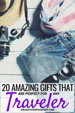 I always have a hard time buying amazing gifts for friends going abroad. I never know what to get them and don't want to buy them something they'll hate. So if you're like me, here are some fantastic gift ideas for someone traveling abroad; a list that has some of this year's best gifts for travelers! #travel #gifts #wanderlust #giftideas