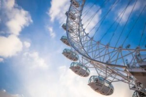 The London Eye is the perfect place to get a beautiful view of London.