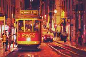 One of the many charming trams that whizz through Lisbon.
