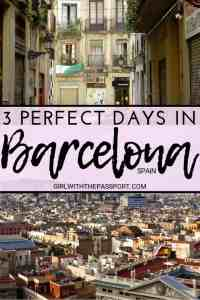 Find out how to plan a perfect 3 Days in Barcelona. In this Barcelona itinerary, you'll learn what to do in Barcelona for 3 days, discover some of Gaudi's incredible architecture like Sagrada Familia, explore the historic Gothic Quarter with it's Picasso Museum, and learn about some of the best places to eat in Barcelona. So check out these Barcelona travel tips and prepare for the vacation of a lifetime. #Barcelona #itinerary #travel #Spain #WesternEurope