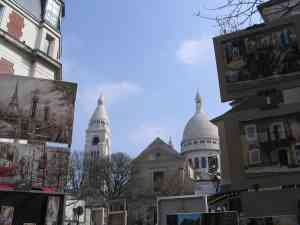 The iconic Place du Tertre where you can get your portrait done in Montmartre.