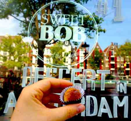 A delicious creme brulee flavored Brigadeiro from Sweet Bob's in Amsterdam.