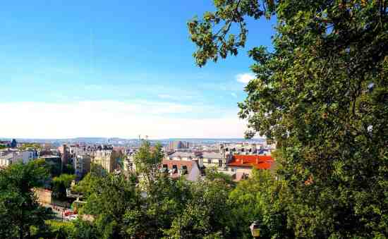 One of the many stunning views from the Musée de Montmartre.