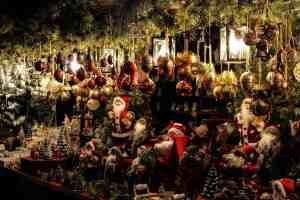 Just some of the many Christmas goods you'll find for sale at many of New York City's Christmas Markets.