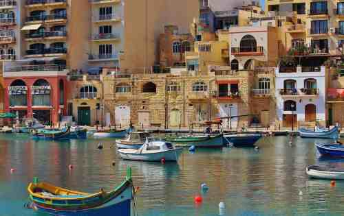 One of the many enchanting grand marinas that you'll find in Malta.