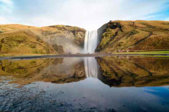 The amazing beauty of Skógafoss Waterfall in Iceland.