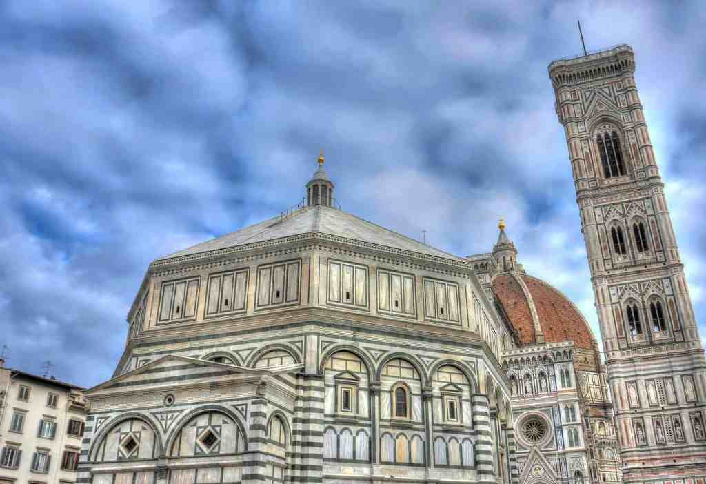 The awe-inspiring architectural beauty of the Duomo in Florence.