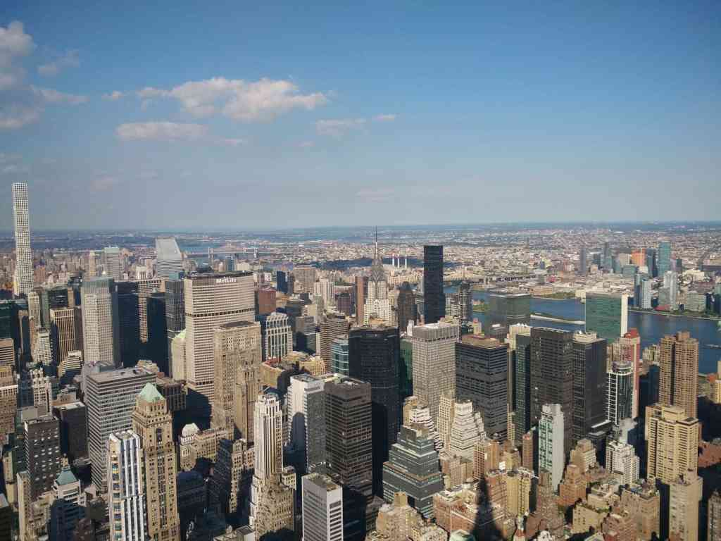 One of the most romantic places in NYC is definitely aboard a helicopter, looking out over the city.