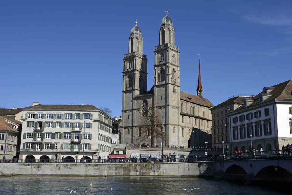 The beauty of the historic Grossmünster church in Zurich.