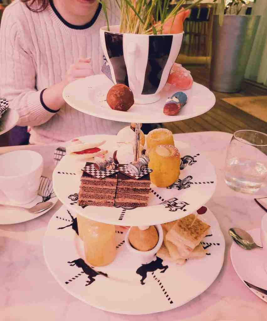 The Mad Hatter's tea party at the Sanderson is a fantastic themed afternoon tea in London.