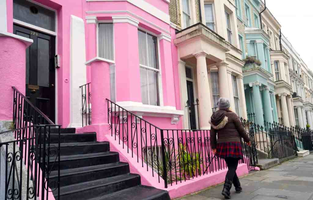 Stop and check out some of the amazingly colorful houses along Westbourne Park Road.