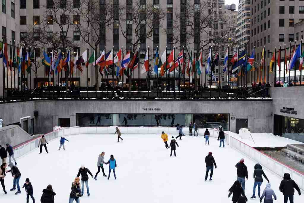 Skating at Rockefeller Center is one of the most iconic and most romantic experiences in NYC.