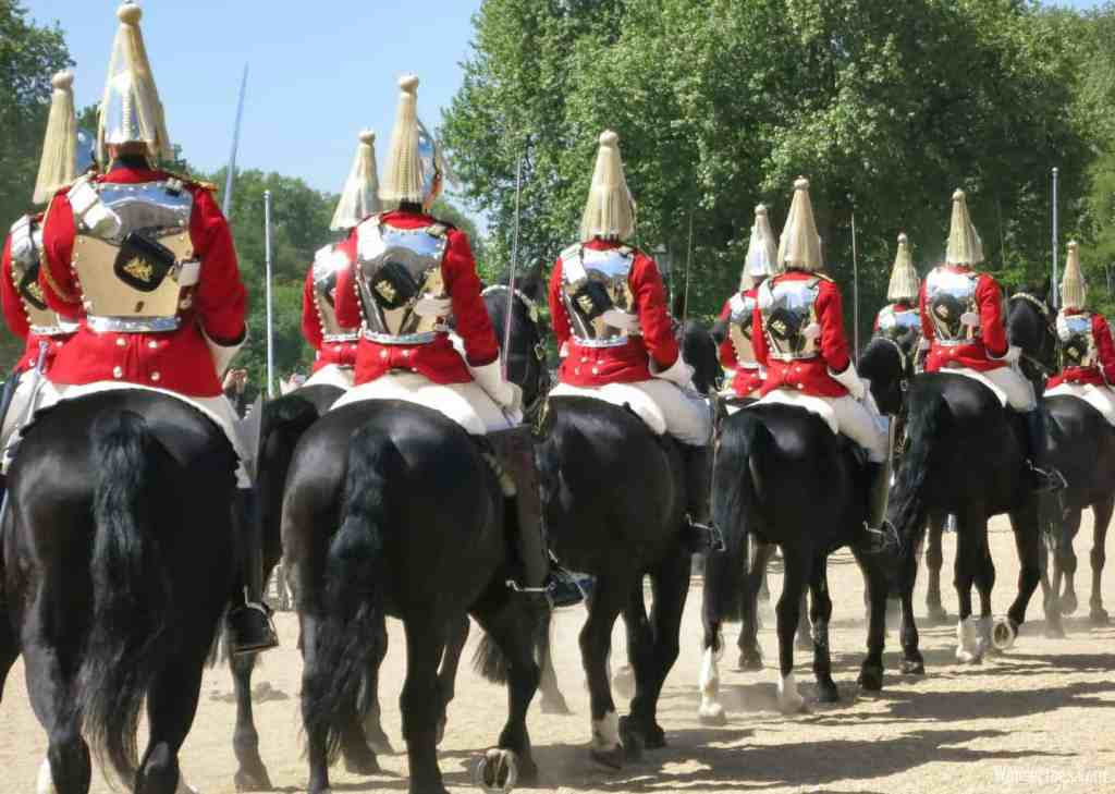 The majestic beauty of the changing of the horse guard in London.