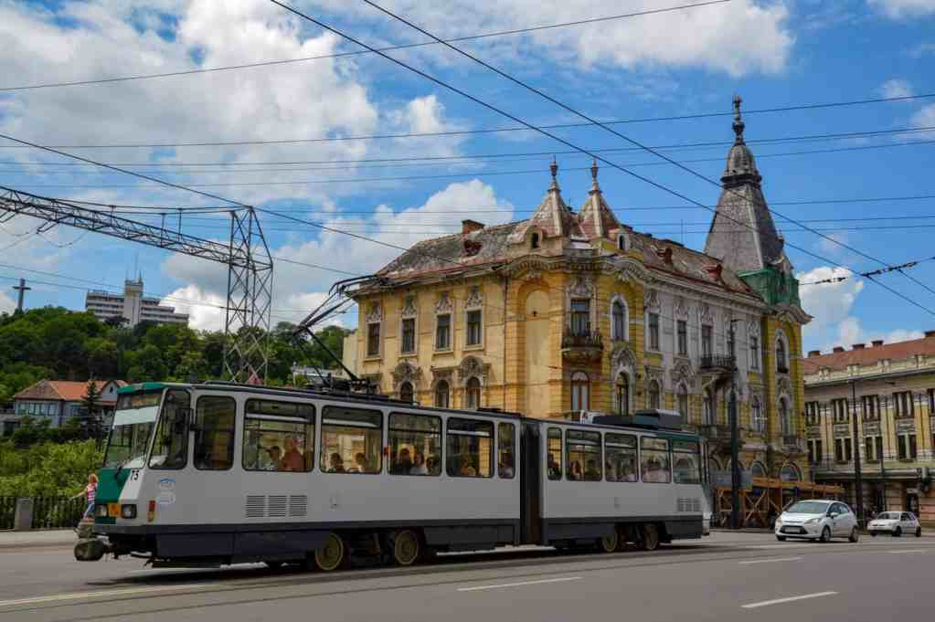 Sarah and Justin used public transportation in Cluj-Napoca, Romania as just one of many ways to travel for less.