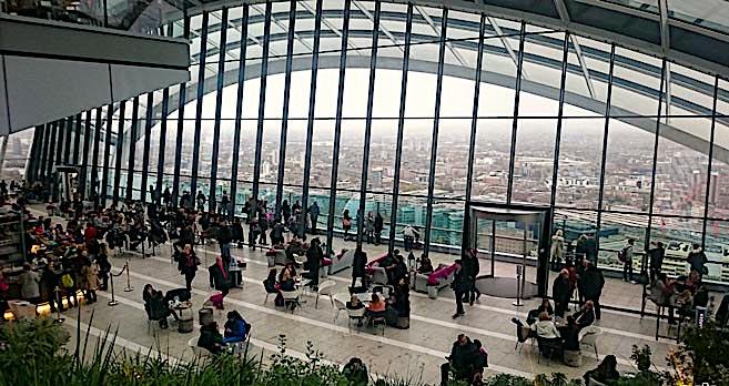 Sky Garden is an amazing place to visit, but definitely make a reservation for your free ticket, online, before visiting.