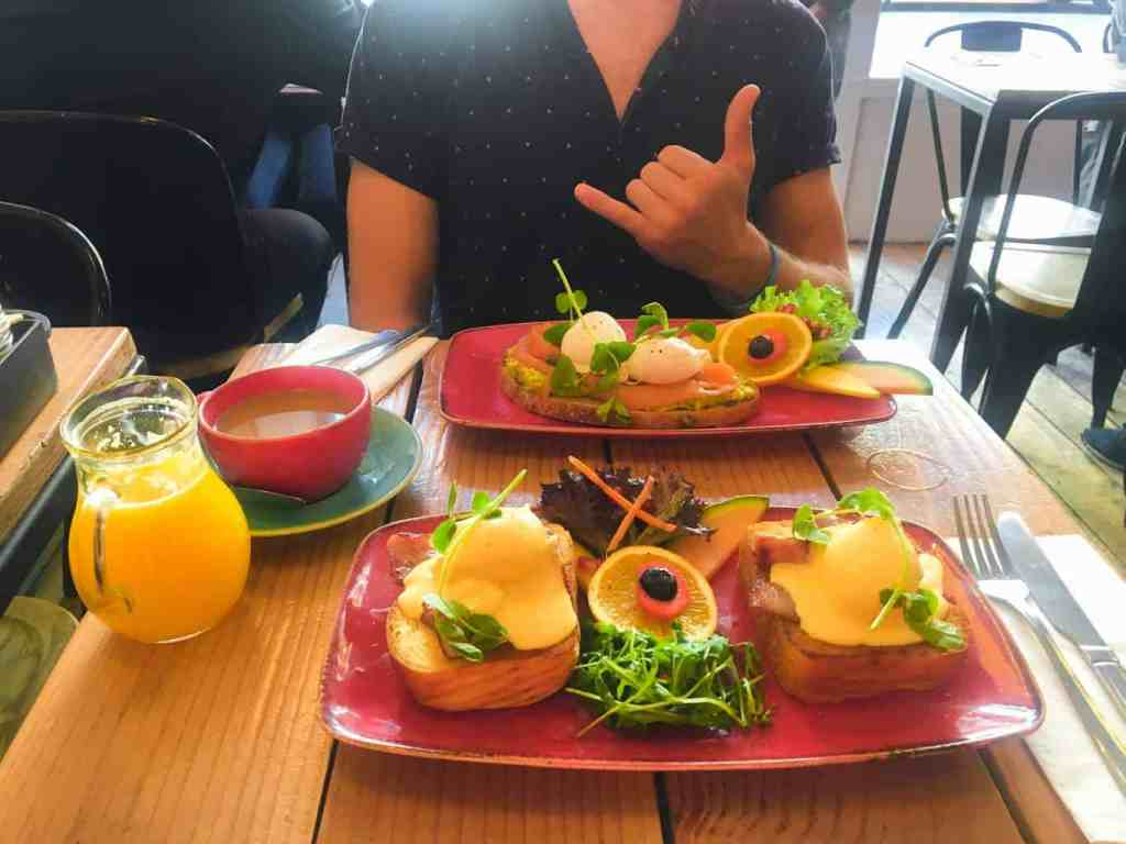 Try the eggs Benedict on sourdough bread at Cafe East and you won't regret it.