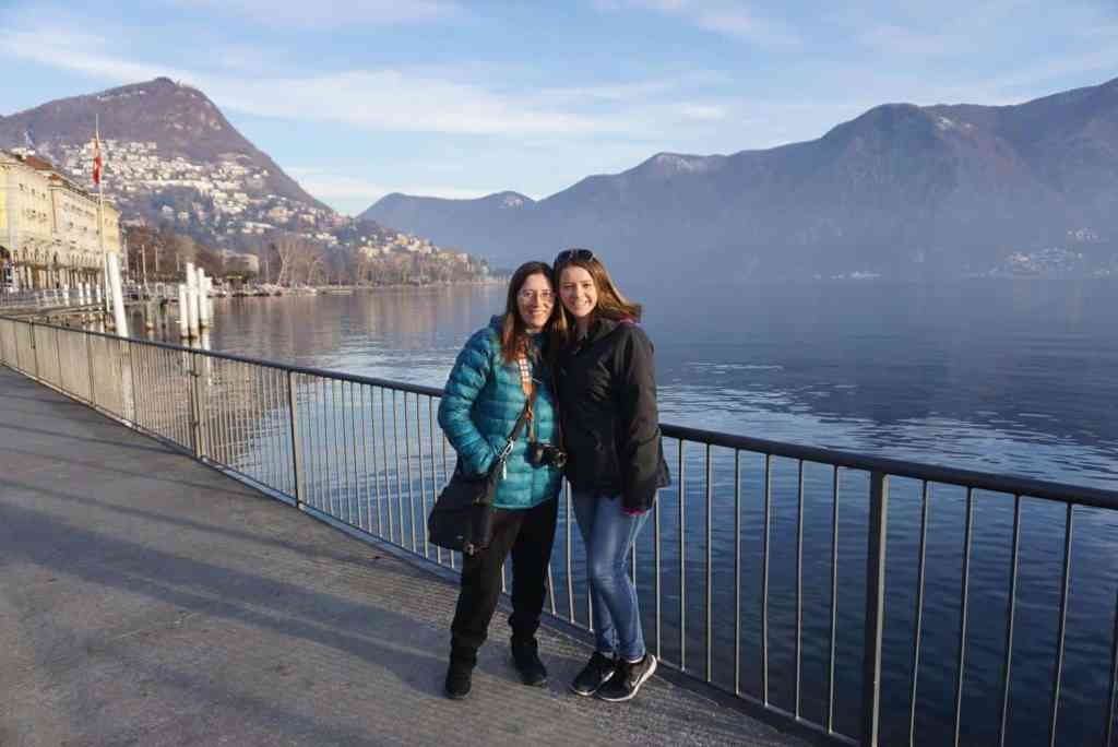 Kris and her sister enjoying the sites around Lugano, Switzerland.