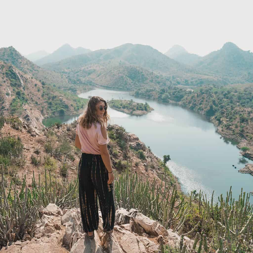 Rhianne exploring the natural beauty of Udaipur.