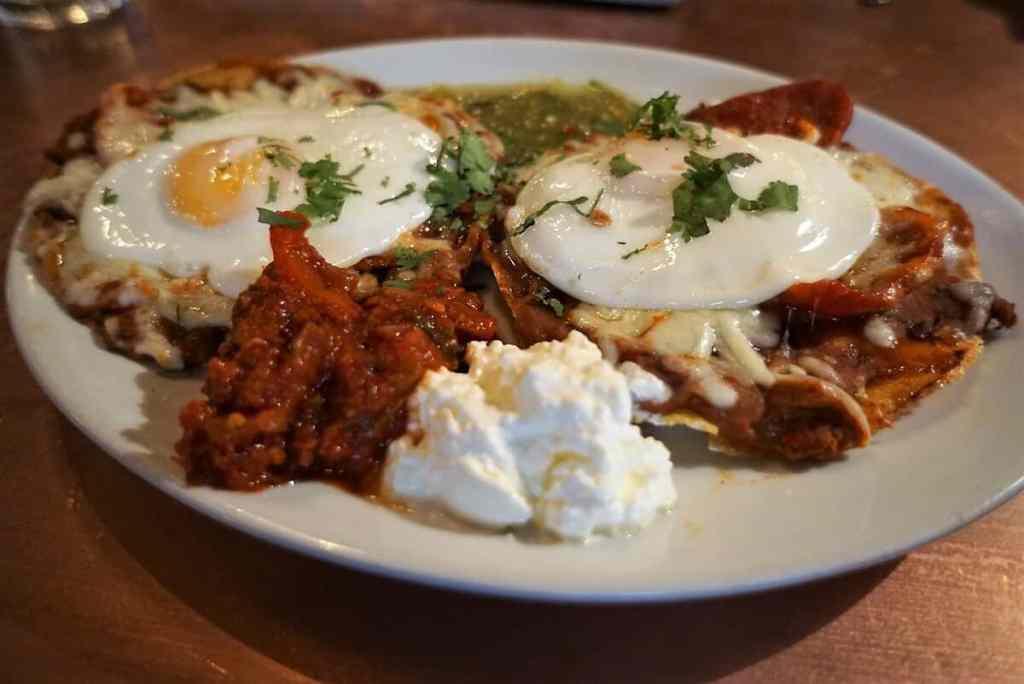 Delicious Huevos Rancheros from The Blues Kitchen.