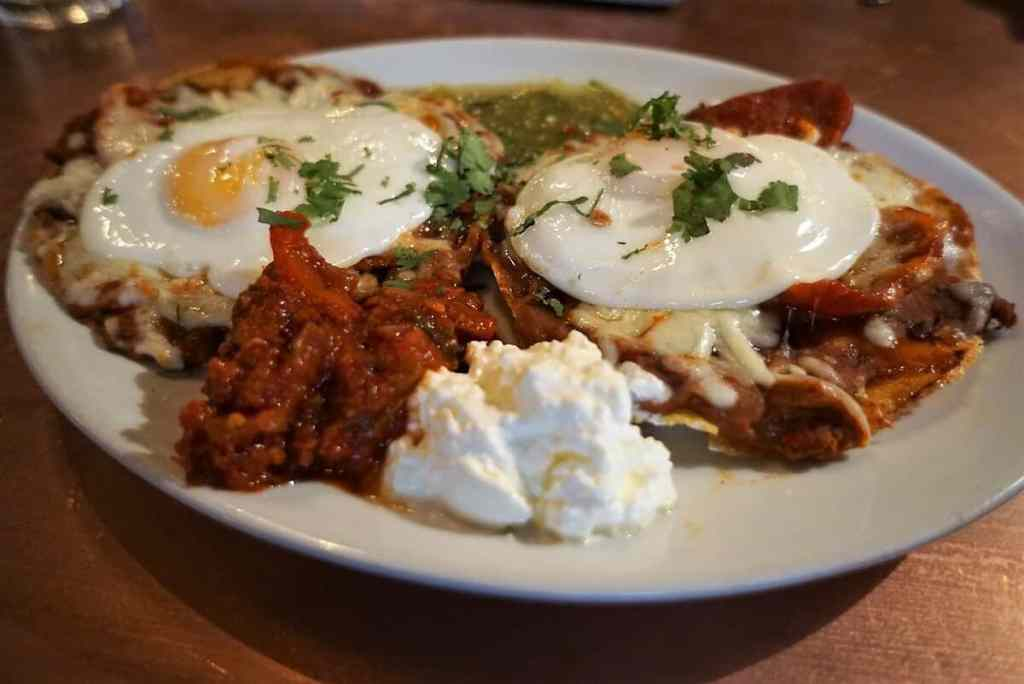 Delicious Huevos Rancheros from The Blues Kitchen.