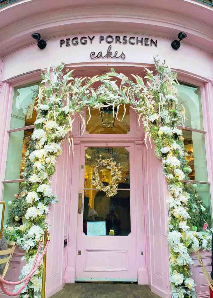 The pink, flowery exterior of Peggy Porschen cakes easily makes it one of the top Instagram spots in London.
