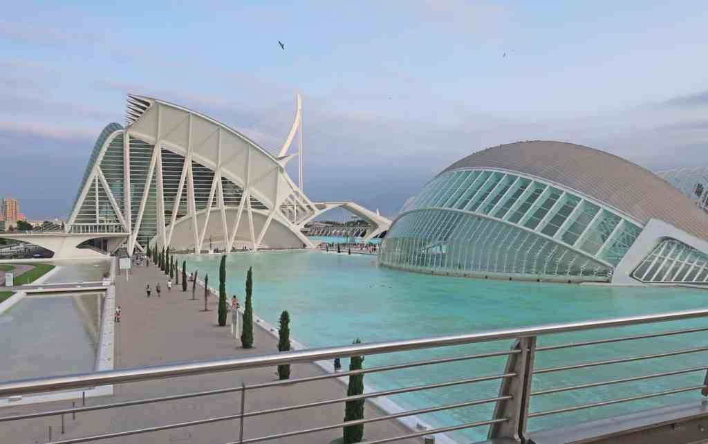 The modern beauty of Valencia's famous City of Arts and Sciences.