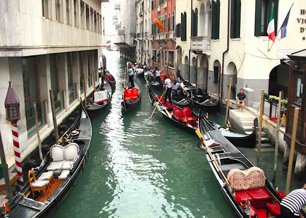 The iconic beauty of Venice's many Gondola filled canals.