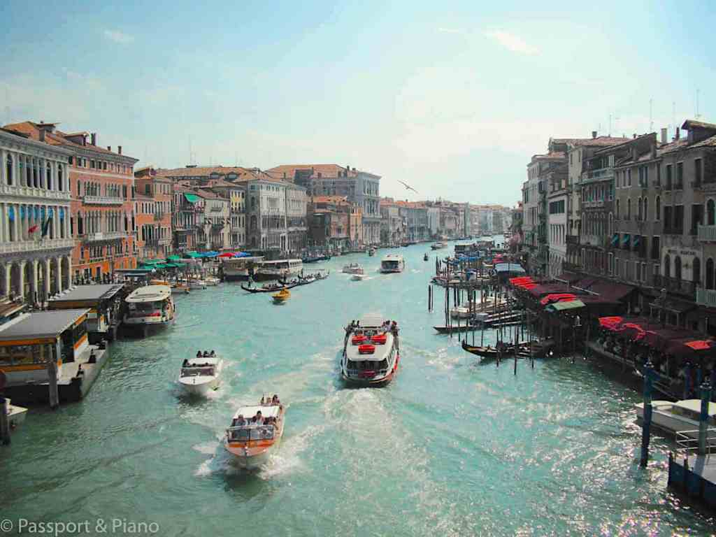 One day in Venice would not be complete without a trip to Venice's iconic, Grand Canal.