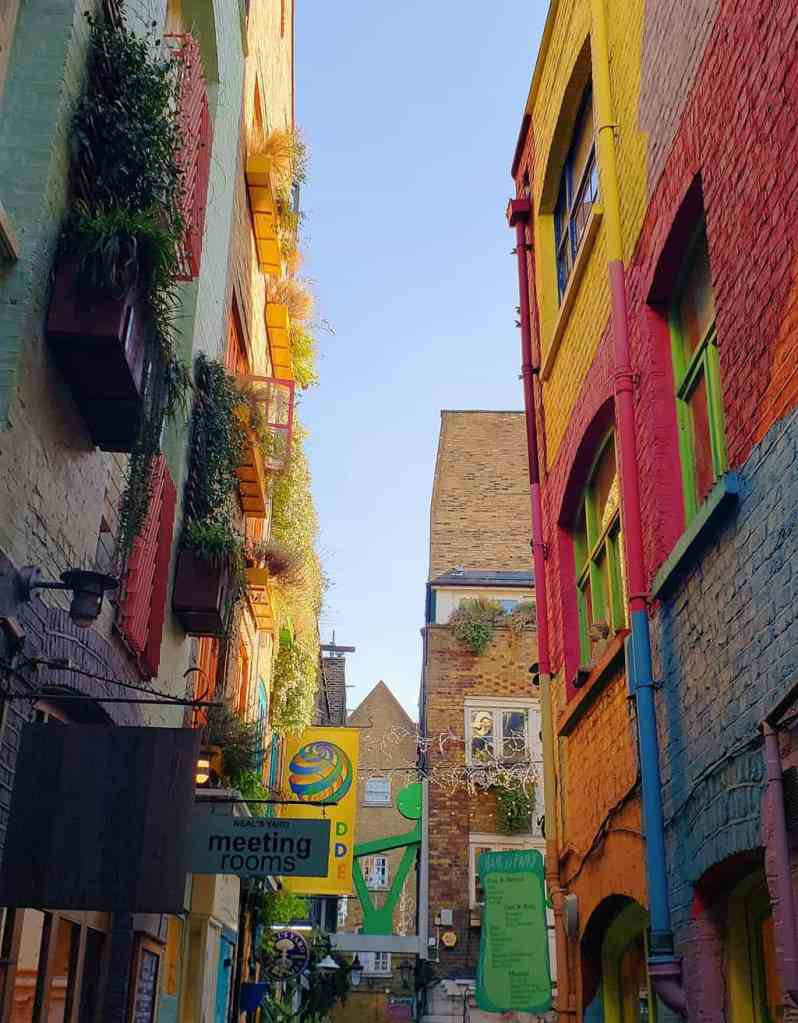 The vibrant and colorful beauty of London's Neal's Yard.